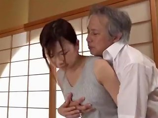 Cute Asian Housewife's Pussy Fucked By Father In Law P3